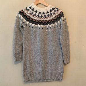 GAP Dresses - Gap Girls Gray Sweater Dress
